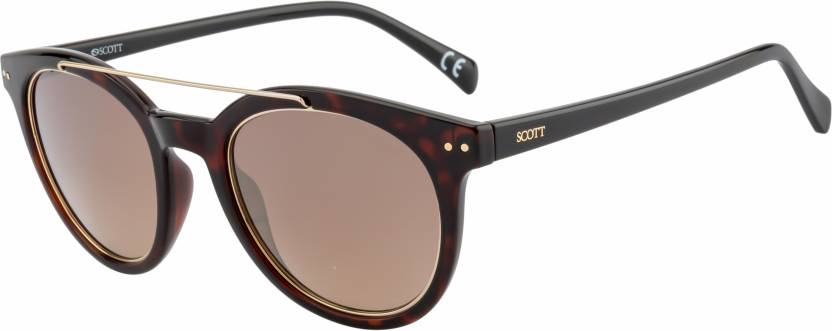 Scott SC-2072-C2 Tortoise Brown Round Sunglasses