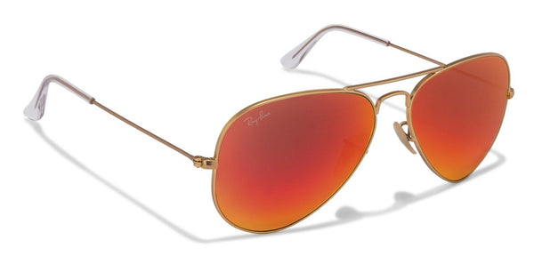 4f8242f67cf Ray-Ban RB3025 Large (Size-58) Golden Red Orange Mirror 112 69 Unisex -  Opticvilla.com
