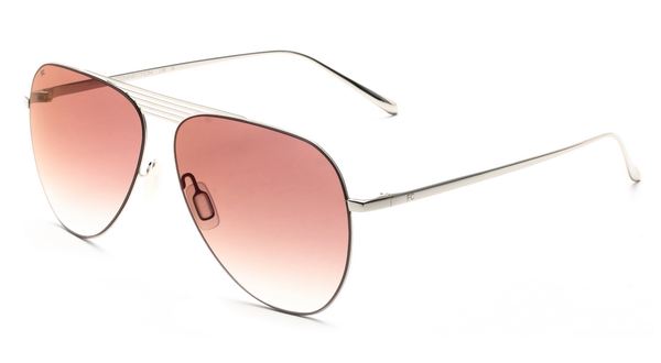 French Connection FC-424-C1 Silver Frame Aviator Sunglasses