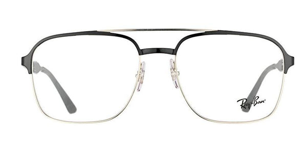 4c11fcb605 Ray-Ban Rx6404 Medium (Size-54) Silver top Black 2861 Unisex Eyeglasses Ray- Ban Rx6404 Medium (Size-54) Silver top Black 2861 Unisex Eyeglasses
