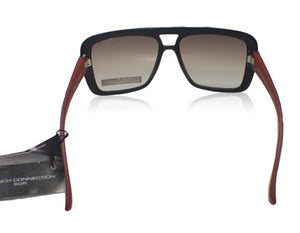FCUK FC-7201-C2 oversized matte black red sunglasses