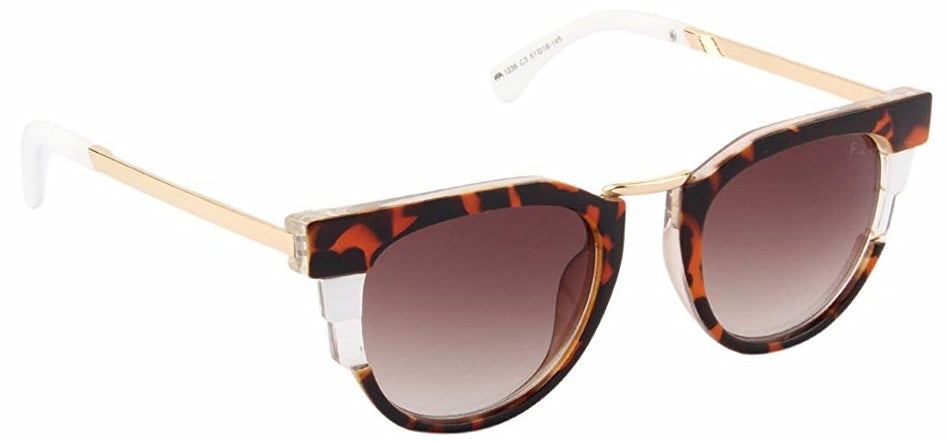 Farenheit FA-1236-C3 Tortoise Brown Frame With Brown Gradient Lens Unisex Round Sunglasses