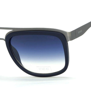 IDEE S2318-C3 Matte Blue Frame And Blue Mirror Unisex Rectangle Sunglasses