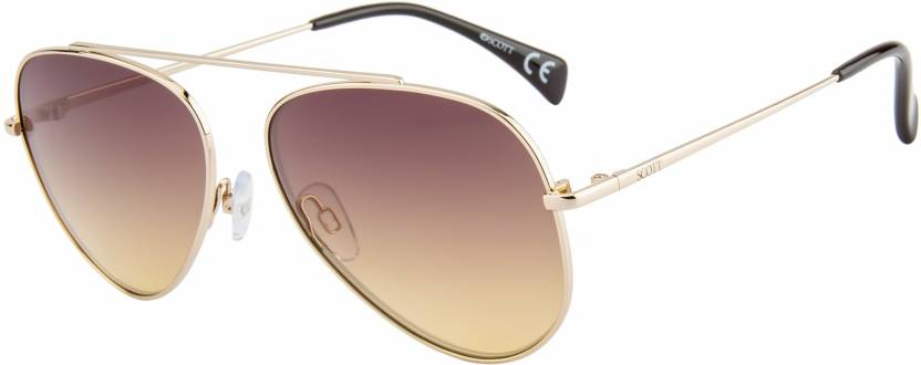 Scott SC-2169-C2 Brown Aviator Sunglasses