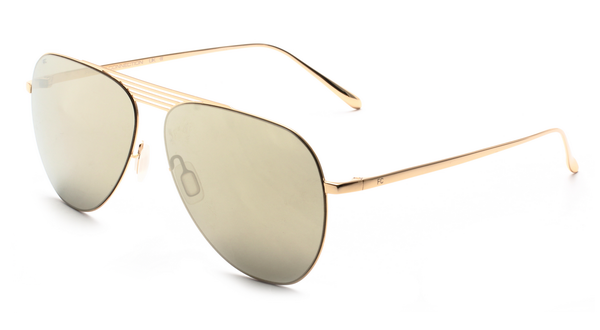 French Connection FC-424-C2 Golden Frame Aviator Sunglasses