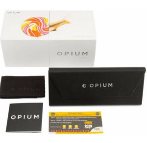Opium OP-1523-C02 Golden Frame With Boomin Pink Gradient Glass Unisex Round Sunglasses
