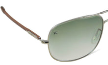 French Connection FC-7316-C2 Aviator Silver Green Sunglasses