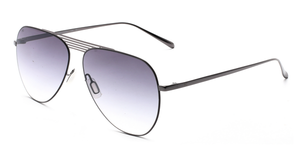 French Connection FC-424-C3 Gunmetal Frame Aviator Sunglasses