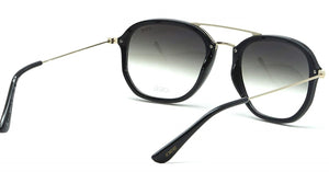 IDEE S2311-C1 Black Frame With Light Green Mirror Unisex Aviator Sunglasses