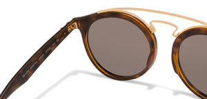 Ray-Ban RB4256 Small (Size-49) Golden Tortoise Golden Mirror Unisex Sunglasses