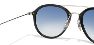 Ray-Ban RB4253 Small (Size-53) Black Silver Blue Gradient Mirror Unisex Sunglasses