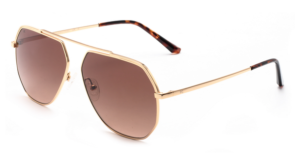 French Connection FC-425-C1 Golden Frame Aviator Sunglasses