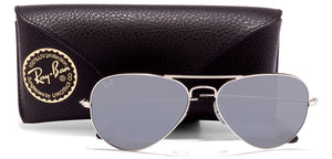 Ray-Ban RB3025 Large (Size-55) Silver Grey Unisex Sunglasses