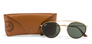 Ray-Ban RB3647 Medium (Size-51) Golden Tortoise Green 1 Unisex Sunglasses