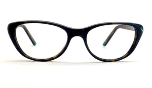 David Jones DJ-2038-TBR Cat-Eye Eyeglasses