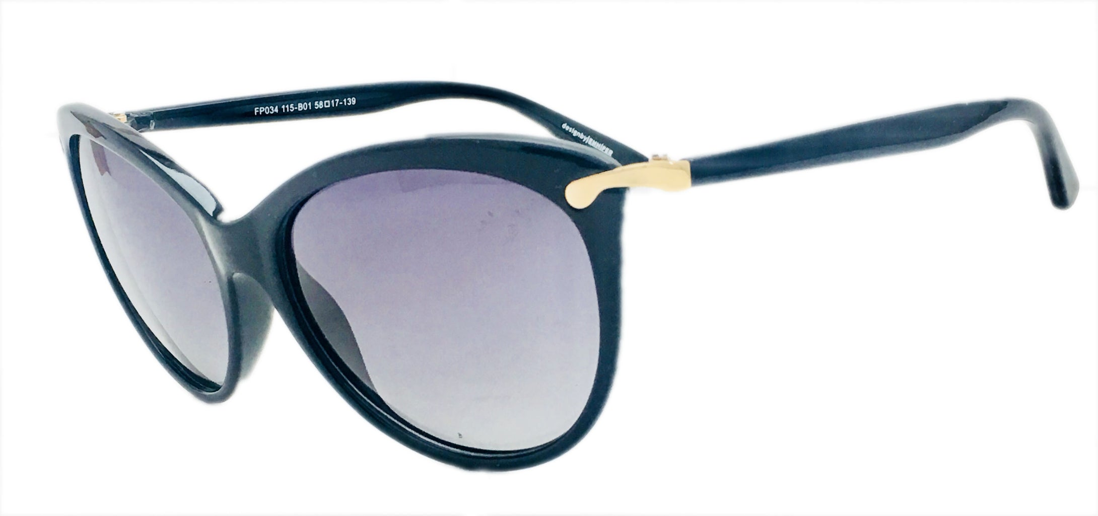 Angrish Black Cat-Eye Sunglasses | AG-FP034-BL |
