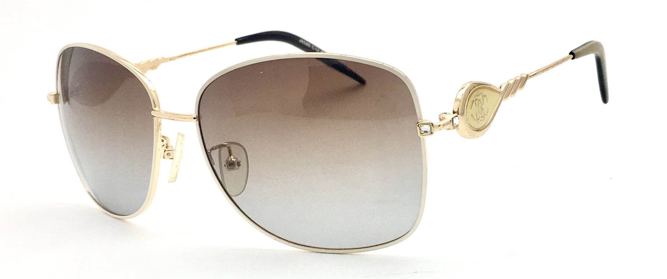 Angrish Cream  Brown Square Sunglasses | AG-J6580-CBR|