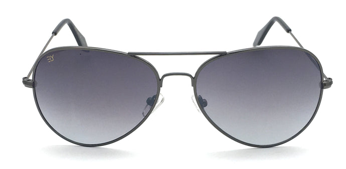 Angrish Gunmetal Dark Grey Aviator Sunglasses | AG-1293-GMDG|