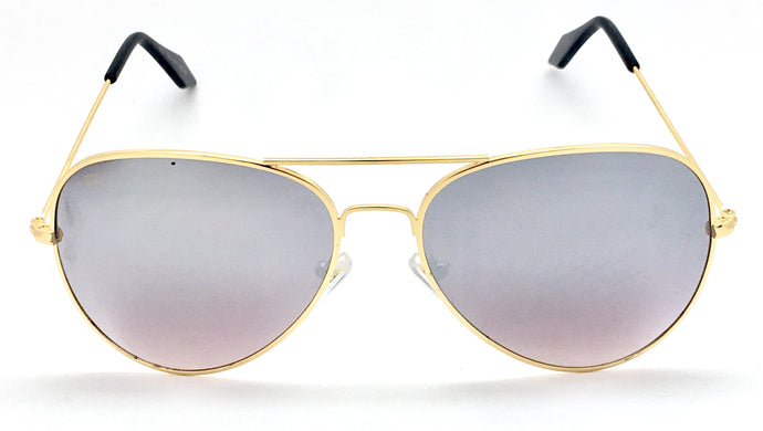 Angrish Golden Silver Mercury Aviator Sunglasses | AG-1293-GLSM|
