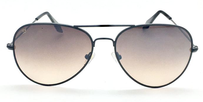 Angrish Black Brown Aviator Sunglasses | AG-1293-BLBR|