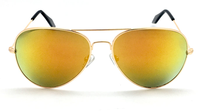 Angrish Golden Mercury Aviator Sunglasses | AG-1293-GLM|