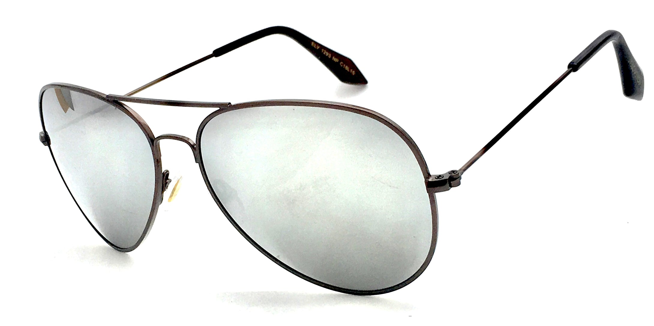 Angrish Brown Silver Mercury Aviator Sunglasses | AG-1293-BRSLM|