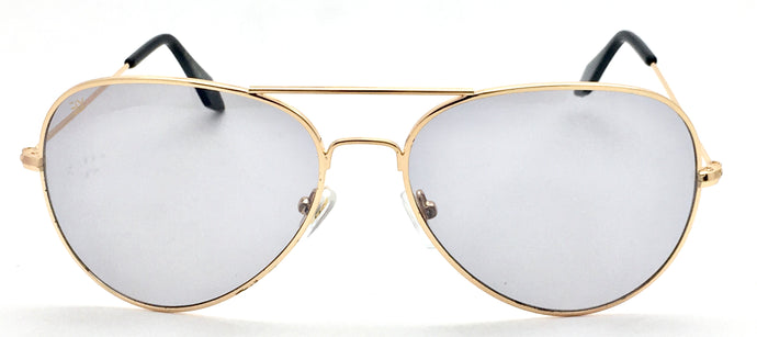 Angrish Golden Grey Aviator Sunglasses | AG-1293-GLGR|