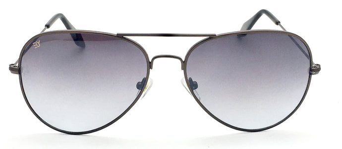 Angrish Brown Dark Grey Aviator Sunglasses | AG-1293-BRDGR|