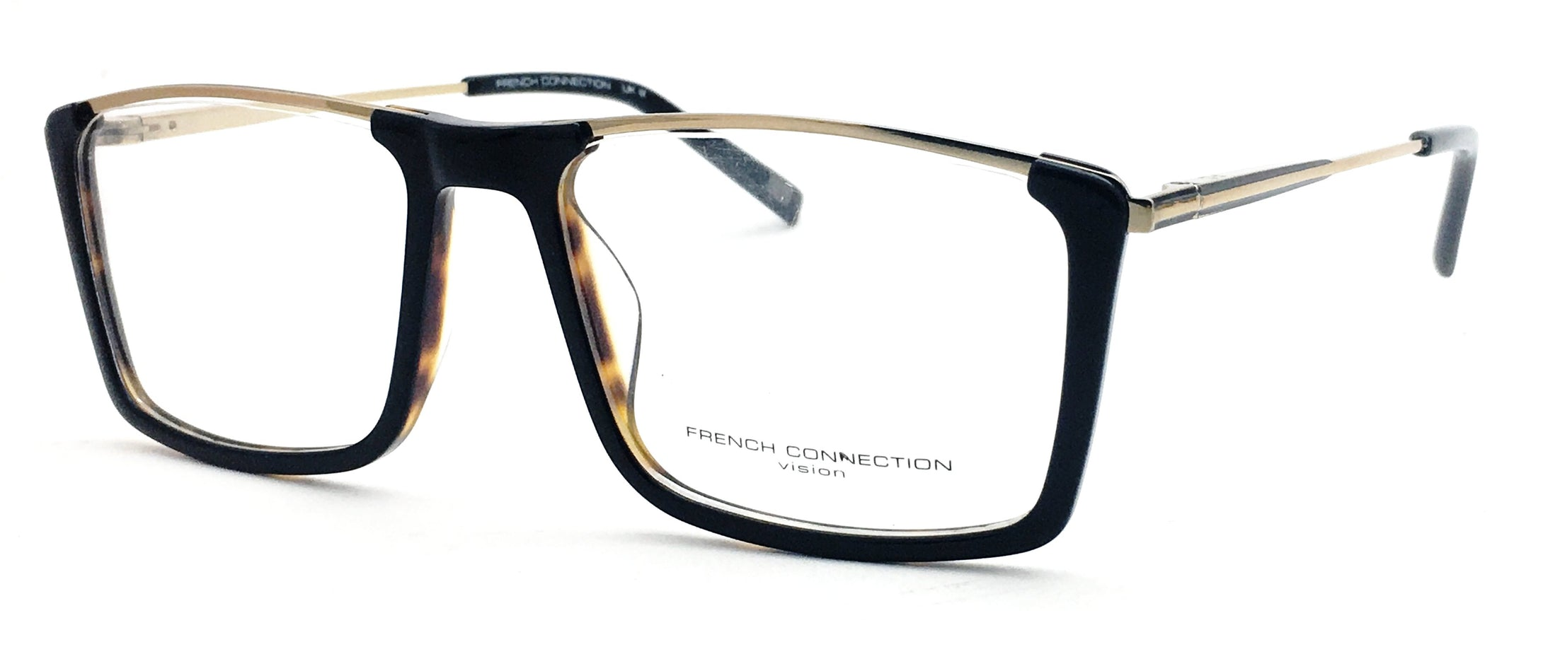 French Connection  FC-8128-C4 Tortoise Brown Rectangle Eyeglasses
