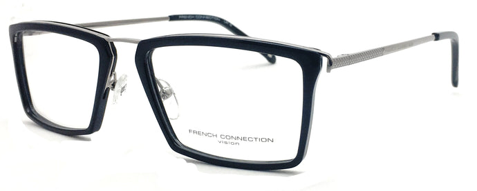 French Connection  FC-8129-C2 Black Rectangle Eyeglasses