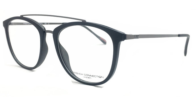 French Connection  FC-105-C3 Matte Black Round Eyeglasses