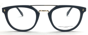 French Connection FC-8092-C1 Black Round Eyeglasses
