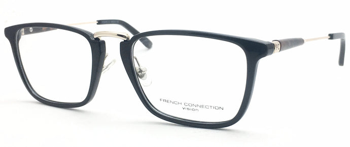 French Connection FC-8080-C1 Black Rectangle Eyeglasses