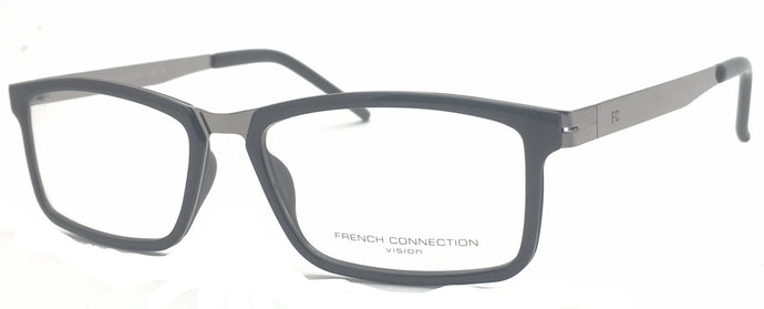French Connection FC-8063-C1 Black Rectangle Eyeglasses