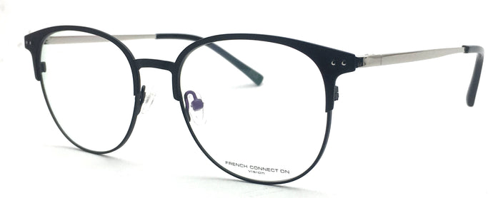 French Connection FC-8086-C3 Black Round Eyeglasses