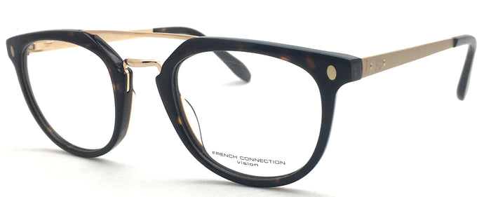 French Connection FC-8092-C3 Tortoise Brown Round Eyeglasses