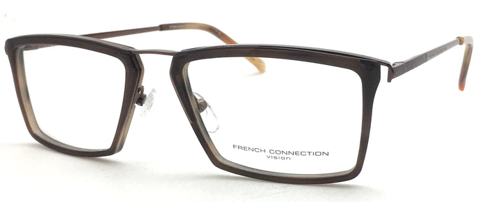 French Connection FC-8129-C5 Brown Rectangle Eyeglasses