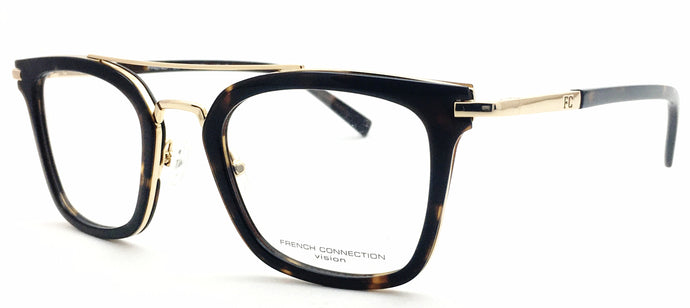 French Connection FC-8089-C3 Tortoise Brown Rectangle Eyeglasses