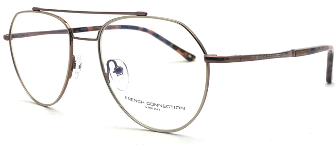 French Connection FC-8125-C5 Silver Aviator Eyeglasses