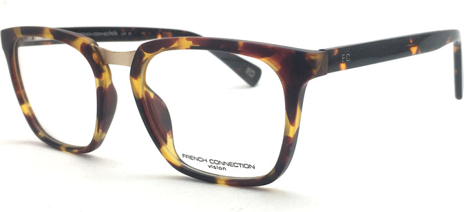 French Connection  FC-8039-C2 Tortoise Brown Rectangle Eyeglasses
