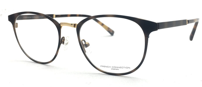 French Connection  FC-8085-C2 Brown Round Eyeglasses