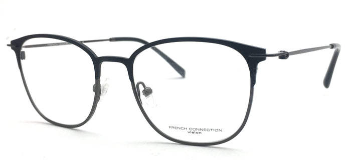 French Connection  FC-8083-C3 Black Round Eyeglasses