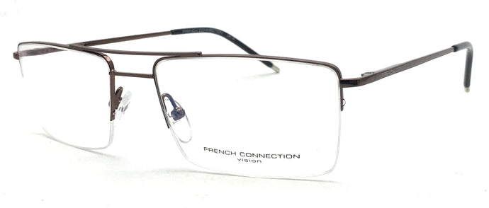 French Connection  FC-8131-C4 Brown Rectangle Eyeglasses