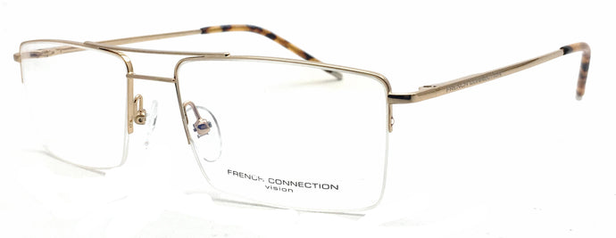 French Connection  FC-8131-C1 Golden Rectangle Eyeglasses