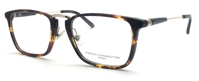 French Connection  FC-8080-C2 Tortoise Brown Rectangle Eyeglasses