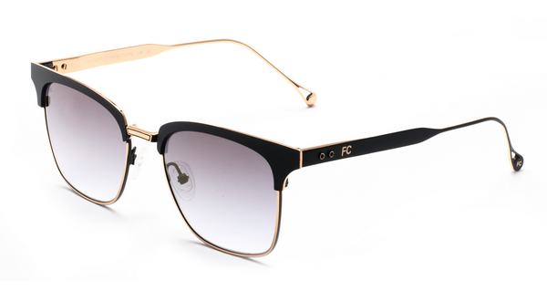 French Connection FC-423-C1 Matt Black Gold Club master Sunglasses