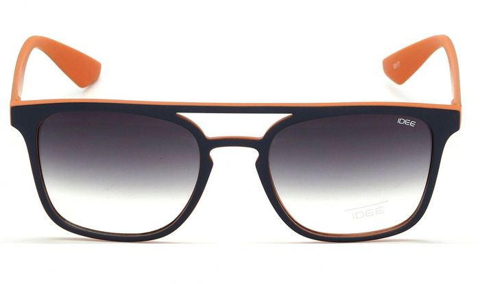 IDEE 2320-C3 Black And Orange Frame With Black Gradient Glass Unisex Wayfarer Sunglasses