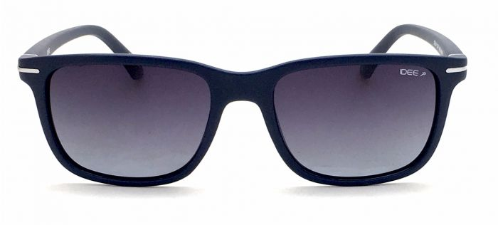 IDEE S2314-C6 Matte Blue Frame With Grey Mirror Unisex Wayfarer Polorized Sunglasses