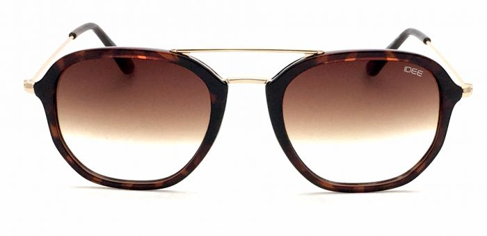 IDEE S2311-C2 Brown Frame And Brown Mirror Unisex Aviator Sunglasses