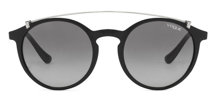 Vogue VO5161S-W44/11 Black Gunmetal Frame With Grey Gradient Round Women's Sunglasses